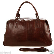 Fashion Men Genuine Leather Travel Bag Duffle Bag Luggage Messenger Bag Weekend