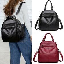 Women Leather Leisure Multifunctional Backpack Handbag Shoulder Travel Bags