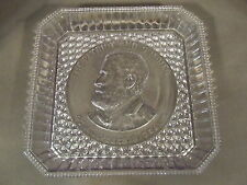 EAPG LIGHT SUN PURPLE GENERAL ULYSSES U.S. GRANT PATRIOT AND SOLDIER GLASS PLATE