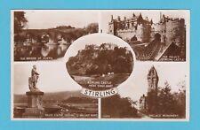 SCOTLAND  -  VALENTINE  POSTCARD  -  VIEWS  OF  STIRLING  -  C 1950