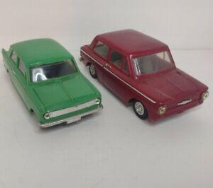 Telsalda No. 140 And 147 Vintage Plastic Friction Cars Made In Hong Kong *READ*