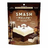 Smashmallow Dark Chocolate Dipped Cold Brew Marshmallows, 4.5 OZ (Pack of 2)