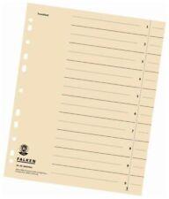 100 x Trennblatt DIN A4 chamois Kraftkarton Universallochung Registerblätter