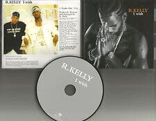 R. KELLY I wish w/ RARE RADIO EDIT PROMO DJ CD Single w/ PRINTED LYRICS r USA
