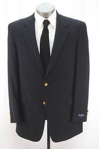 NEW mens navy blue AUSTIN REED blazer jacket sport suit coat gold buttons 42 L