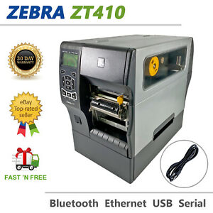 Zebra ZT410 DT/TT Label Printer 300 dpi Peeler Rewinder USB BT LAN Zebra Frw