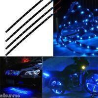 Cool Blue 4pcs 30CM/15 LED Car Motors Truck Flexible Strip Light Waterproof 12V