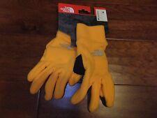 $35 The North Face Womens M Medium Polartec Fleece Paolie Gloves Zinnia Orange