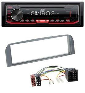 JVC 1DIN AUX USB MP3 Autoradio für Alfa Romeo 147, GT - anthrazit