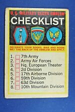 1965 Topps Battle Cards - #65 Military Cloth Emblem Checklist UNCHECKED - Good