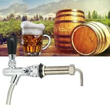 Draft Beer Faucet Tap G5/8 Shank Long Stem Brew Adjustable Flow Control