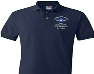 175TH WING MARYLAND AIR NATIONAL GUARD EMBROIDERED POLO SHIRT/SWEAT/JACKET.