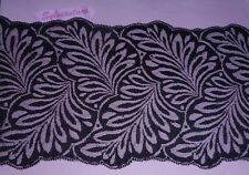 1.90   metres o f   Black Scalloped Double sided  Flat  Lace   16 cm wide