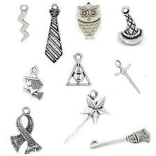 10 x Tibetan Silver Mixed Pendant Charms Harry Potter