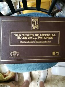 1991 COOPERSTOWN COLLECTION PART SET OF (35) PATCHES IN ORIGINAL BINDER NM