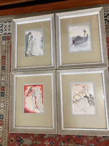 Salvador Dali Divine Comedy: 4 Signed Original Woodblock Prints #2, 13, 21, 25.