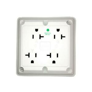 Leviton 20 Amp Hospital Grade Extra Heavy Duty Grounding 4-in-1 Outlet, White