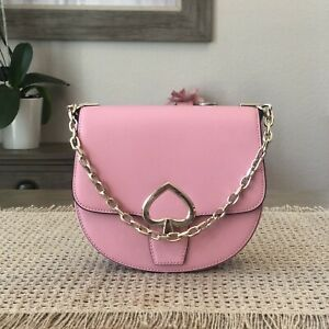 Kate Spade New York Robyn Medium Chain Saddle Bag Pink Wkru6547 NWT $399