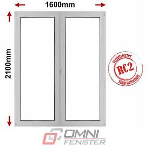 Terrassentür PVC Fenster RC1 RC2 Einbruchschutz 1600 x 2100 Balkontür auf Maß