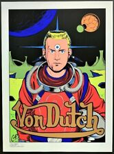 Von Dutch POSTER The Dutchman Silkscreen Limited Numbered Edition Signed by Coop