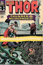 The Mighty Thor Comic Book #130, Marvel Comics 1966 VERY FINE+