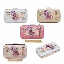 Women Evening Bag Flower Party Wedding Purse Handbag Clutch Shoulder Bag Wallet