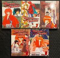 Rurouni Kenshin 1, 2, 4, 5, 6 Manga Viz Action Sword Shonen Jump English