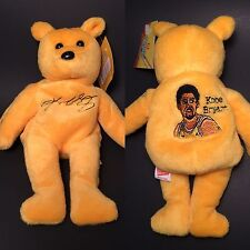 Kobe Bryant Los Angeles Lakers Plush Golden Beanie Bear Doll Figure - Brand New!
