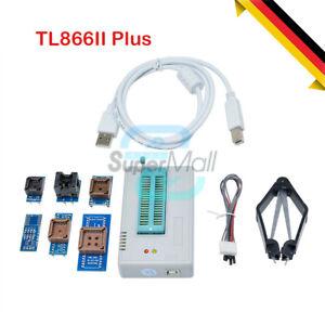 TL866II Plus Programmer 7 Adapters Socket Extractor EPROM FLASH BIOS R / TL866CS