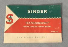New listing Original Singer 221 Featherweight Sewing Machine Owners Instruction Manual 1967