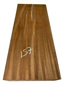 "African Mahogany Turning Wood Blank Lathe Wood Block 24""x10-1/2""x4"", #157"