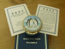 More details for boxed halcyon days king penguin enamel box - >1 5/8
