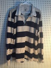 IZOD Jeans Rugby Shirt Men's 2XL 100% Cotton Stripes