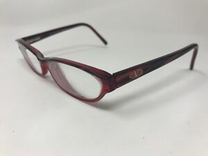 Valentino Womens Eyeglasses Italy V5392 135m Clear Red/Marble UD86