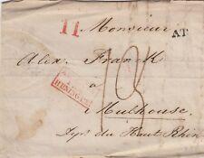 Russland / Frankreich; Brief aus Odessa 1835 nach Mulhouse, div. Stempel