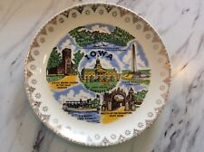 Vintage Iowa State Plate Souvineer Retro Hawkeyes