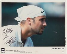 Photograph signed by tennis player ~ Andre Agassi