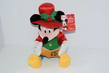 Disney Store 2002 HOLIDAY MUSICAL DANCER Mickey Mouse Plush Animated NEW