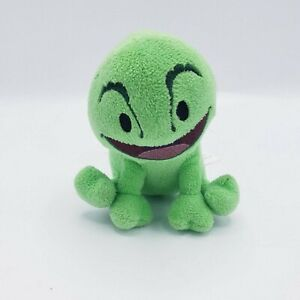 "Disney Plush Green Smiling Lizard Black Eyes Stuffed Animal 6"" x 4"" #P2"