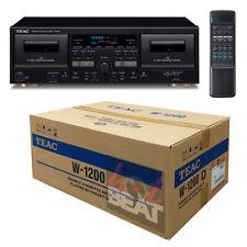TEAC W-1200 B Black Cassette Deck USB Pitch Karaoke-in w/ Remote 120V - 230V