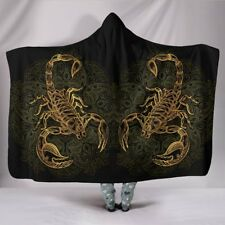 Scorpio Zodiac Hooded Blanket For Children And Adults - Scorpion Lover Blanket
