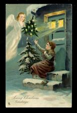 Embossed Single Christmas Collectable Greeting Postcards