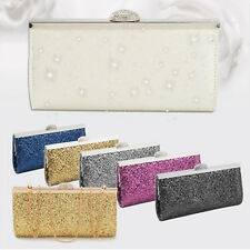 Women Fashion Sparkly Crystal Clutch Evening Bag Wedding Bridesmaid Handbag