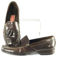 Cole Haan Country Loafer Men's 7 M Brown Leather Tassel Dress Shoe Brazil C00523