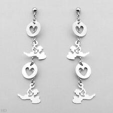in 925 Sterling silver Heart Earrings Beautifully Made