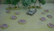 WARGAMES 10 SHELL crateri da 15mm 20mm FLAMES OF WAR WW2 HANDMADE BY Fat Frank