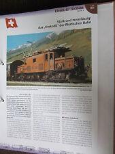 Chronik der Eisenbahn 2: 1921 Schweiz Krokodil der Rhätischen BAhn Ge 6/6 I