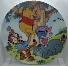 """Bradford Fun in 100 Acre Woods """"A Sticky Situation"""" limited Edition plate 8"""""""