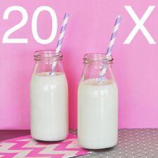 20 x 250 ML Vetro Bottiglie di Latte Mini Party Pack Ricevimento Nuziale Doccia