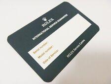 Rolex International Service Guarantee Warranty Certificate - BLANK: Daytona etc.